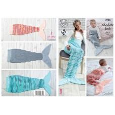 Kingcole 4908 Crochet Mermaid Tail